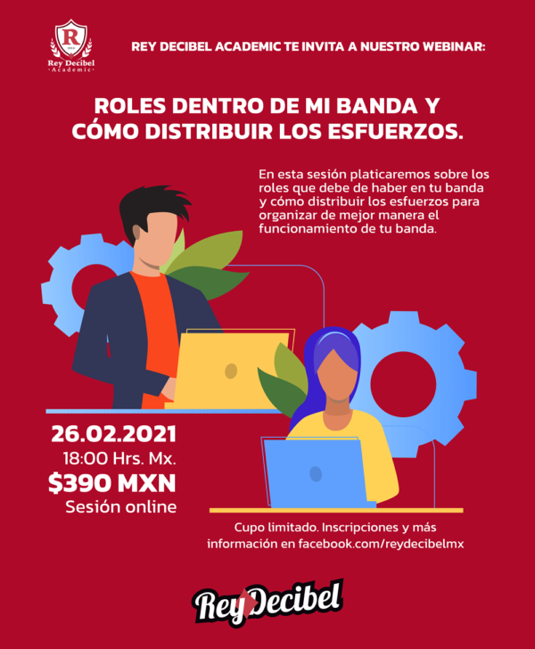 webinar music bussines roles produccion rey decibel